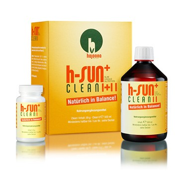 h-SUN+ clean I + II von hajoona Nahrungsergänzung für Entschlackung und Reinigung