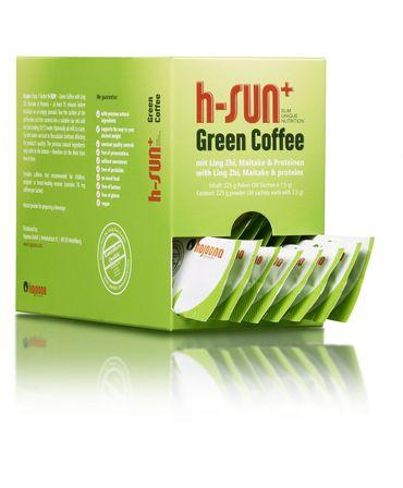 2x h-SUN+ von hajoona Grüner Kaffee mit Ling Zhi, Maitake, Acai, Proteinen und more... – Bild 3