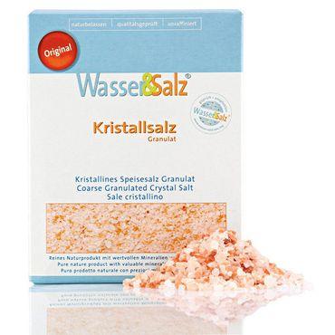 "Kristallsalz Granulat 1000 g Original Wasser & Salz AG aus der ""salt range Pakistan"""