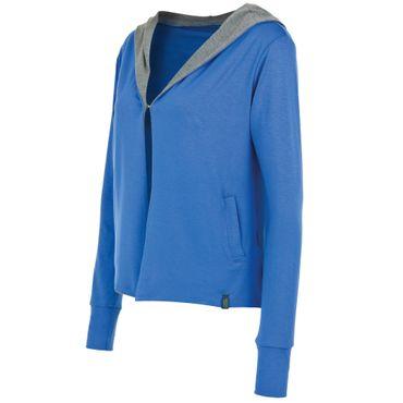 Yoga Damen-Kapuzenjacke blau/grau, DIWALI JACKET von hut und berg balance