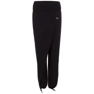 Yoga Damen-Pumphose schwarz, THAI CROSS OVER von hut und berg balance