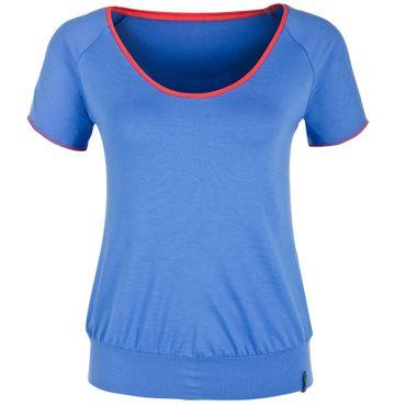 Yoga Damen T-Shirt blau/apricot, SITA Shirt von hut und berg balance