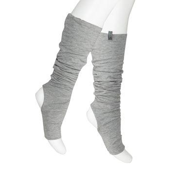 Yoga Beinwärmer grau, LEGS WARM von hut und berg balance