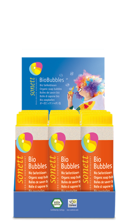 BioBubbles Seifenblasen NEU,12 x 45 ml Display